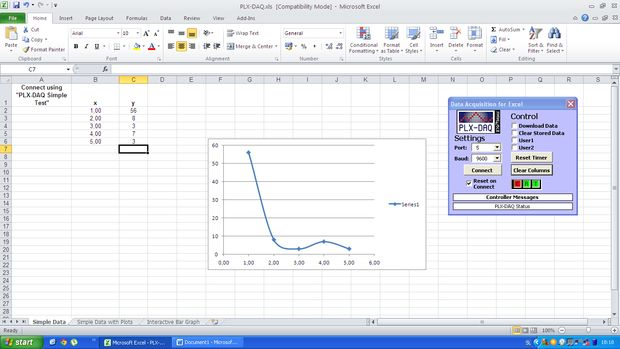 Sending LIVE data from Arduino to Excel (and plotting it) - Home